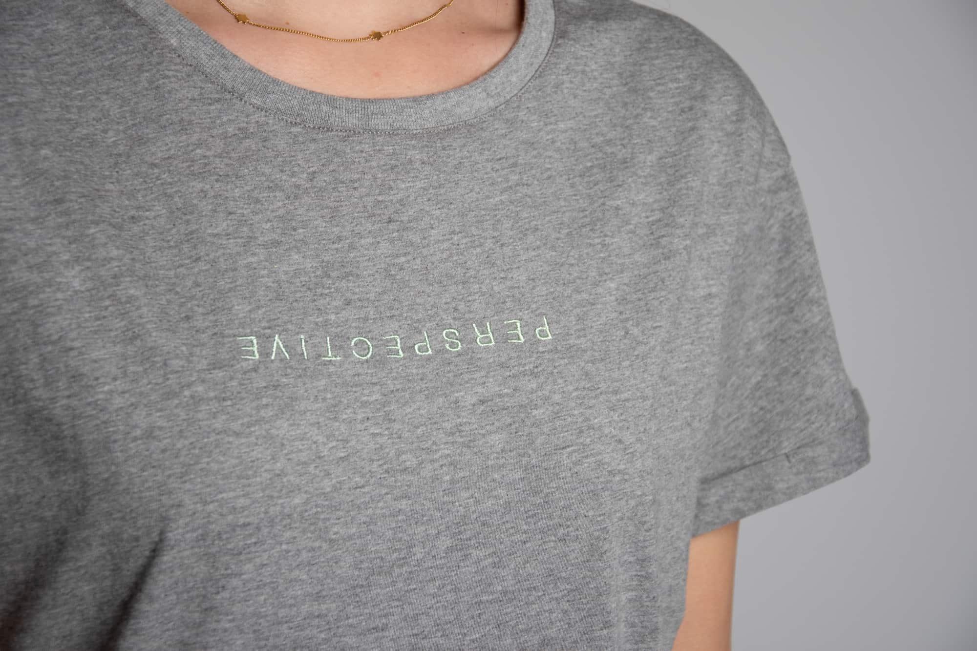 11e3465fd4 Grey T-shirt Dress 'Perspective' • Atelier Bossier